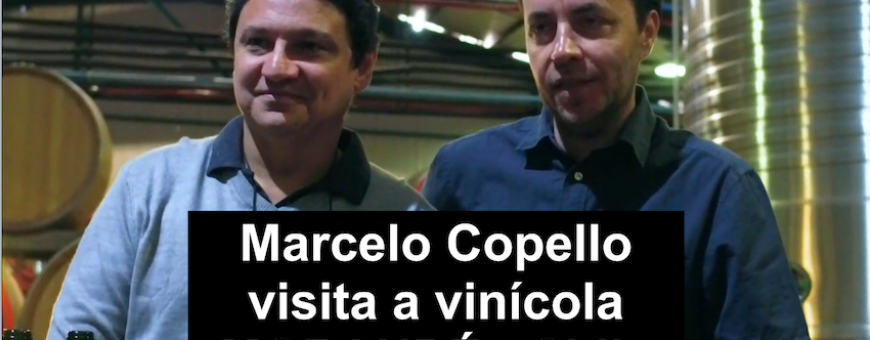 Marcelo Copello visita a vinicola MORANDÉ no Chile